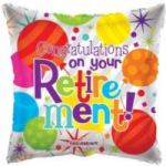 "RETIREMENT BALLOON  18"" 19523-18"